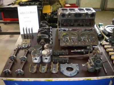 Adler TJ-Motor, zerlegt und gereinigt